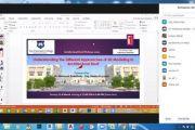 كلية صور الجامعية : الندوة الأولى من سلسلة ندوات تطبيقات الريفيت المعماري عبر منصة زووم